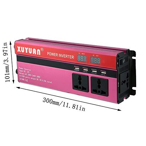 AgoHike 6000W Solar Power Inverter DC 12V to AC 220V LED Display Sine Wave Converter
