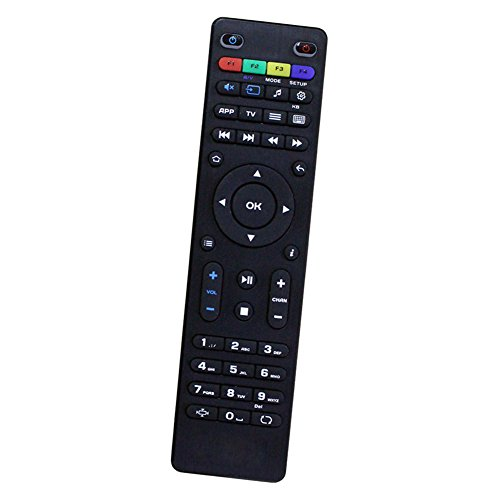 Bincolo Original Replacement Remote Control for Mag254 250 255 256 257 275 349 350 351 352 OTT Tv Box Linux IPTV Set-Top Box, Black