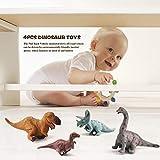 anne210 Toy Dinosaur Model Pull Back Car Toy Tyrannosaurus Rex Triceratops Brachiosaurus Maiasaura 4 Pack Dinosaur Kids Gifts