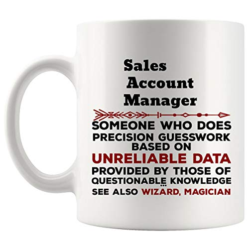 Funny Sales Account Manager Mug Gift - 11Oz Coffee Cup - Best Gifts for Men Women T-Shirt Cups Mugs from WingToday