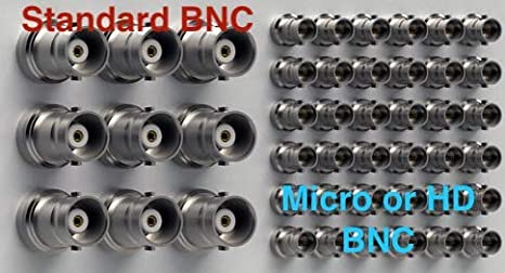 3 Foot 12G Rated Standard BNC Female to High Density Micro BNC Male 3G//6G//12G HD-SDI Mini RG59 Video Adapter Cable by Custom Cable Connection