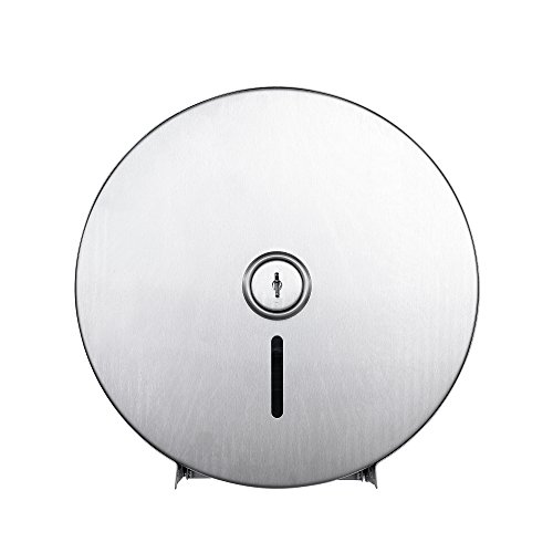 (Jumbo Roll Toilet Paper Dispenser - Lockable Design - 430 Grade Stainless Steel - Satin Finish - 250M Long up to 4-1/4