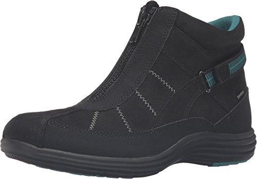 Aravon Women's Beverly-AR Waterproof Bootie,Black Leather,US 7.5 2E