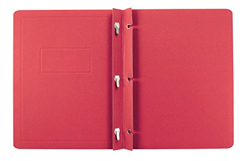 (Oxford Title Panel and Border Front Report Covers, Red, Letter Size, 25 per Box, (52511))