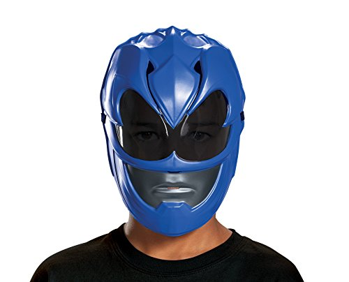 Disguise Blue Power Ranger Movie Mask, One Size (Blue Ranger Helmet)