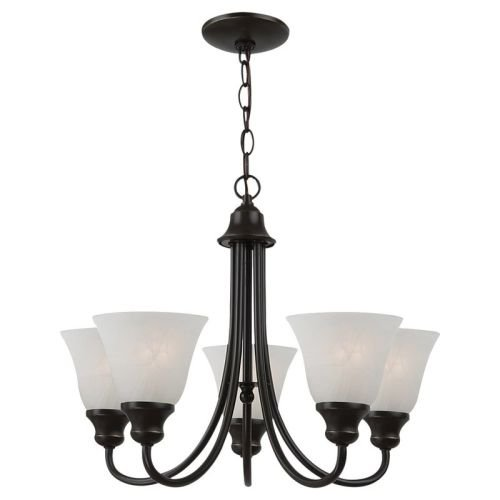 Sea Gull Lighting 35940BLE-782 5-Light Windgate Fluorescent (Fluorescent Chandelier)
