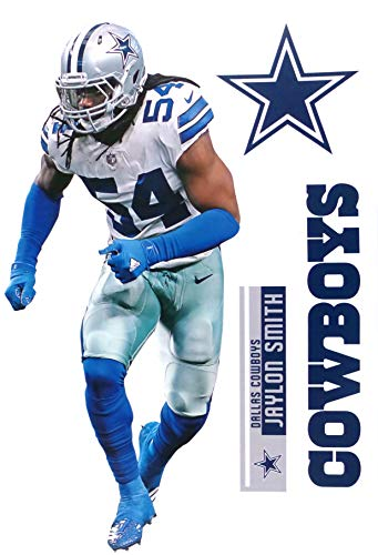 watch 626ac 4bc08 Jaylon Smith FATHEAD TEAMMATE Dallas Cowboys Logo Set Official NFL Vinyl  Wall Graphics 17