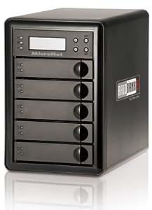 Micronet RAIDBank5 Quad Encrypted 15 TB Firewire 400/ Firewire 800/ eSATA/ USB 3.0 with 5 Bay Hard Drive Raid Array RB5-15000