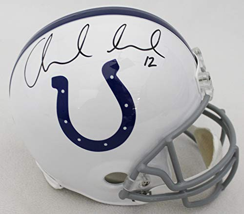 Andrew Luck Indianapolis Colts Signed Autograph Full Size Replica Helmet Panini Authentic Certified