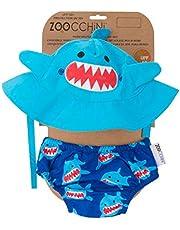 Zoocchini maillot/sombrero, diseño de tiburón S (3–6meses)