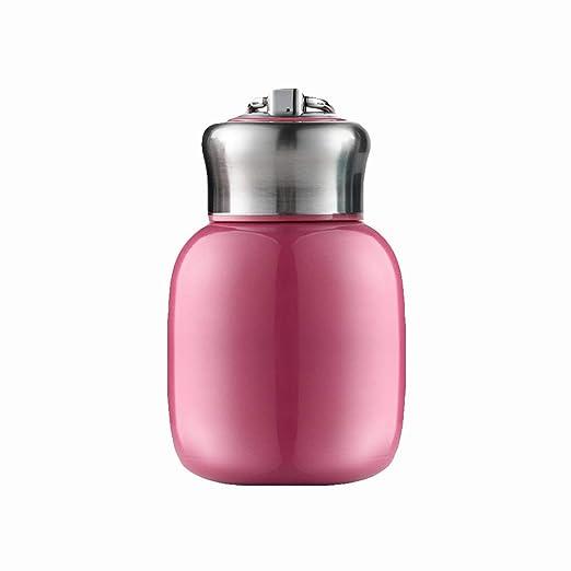 ypypiaol Botella de agua termo para niños - 200 ml - Mini botella de agua termo de vacío portátil de acero inoxidable con aislamiento para niños Rose ...