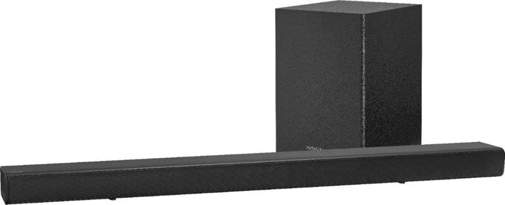 Insignia NS-SBAR21F20-2.1-Channel 80W Soundbar System with Wireless Subwoofer - Black