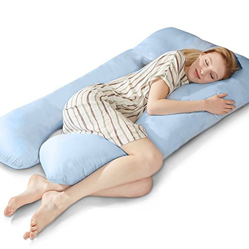 Puredown U Shaped Maternity/Pregnancy Body Pillow with Zippered Cover, 32
