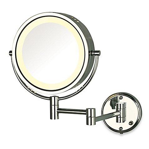 Jerdon 8X/1X Fog-Free Lighted Wall Mount Mirror (1, Chrome)