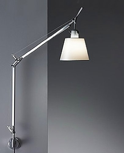 Tolomeo with shade wall sconce - pale grey, 220 - 240V (for use in Australia, Europe, Hong Kong etc.), J bracket