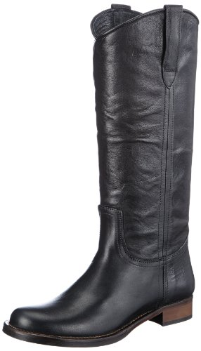 HIP D1810 Leather D1810-000-10LE-0000-0000 Damen Stiefel Schwarz (Black)