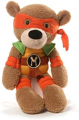 GUND Teenage Mutant Ninja Turtles Michelangelo Fuzzy Bear Stuffed Animal Plush, 13.5