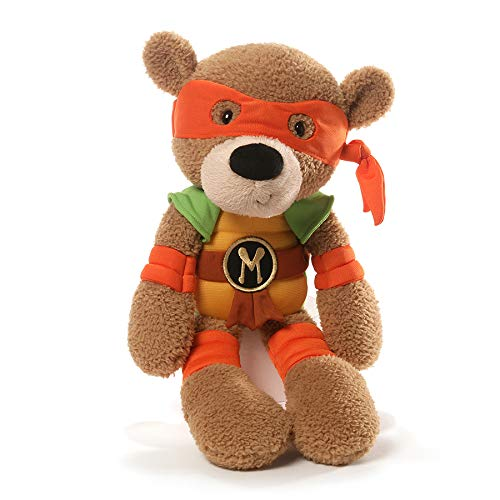 GUND Teenage Mutant Ninja Turtles Michelangelo Fuzzy Bear Stuffed Animal Plush, 13.5