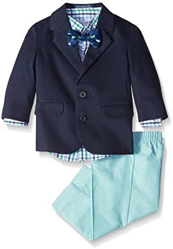 Izod Kids Baby Boys' Twill and Chambray Duo Set with Bow Tie
