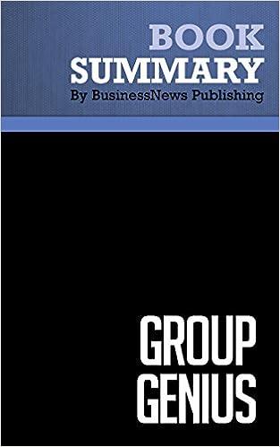Summary: Group Genius - Keith Sawyer: The Creative Power of