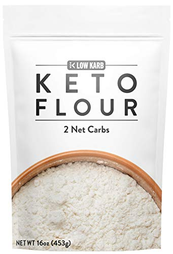 Low Karb - Keto Flour - All Purpose - Low Carb Food - Only 2g Net Carbs per Serving (16 oz) (Substitute All Purpose Flour For Coconut Flour)