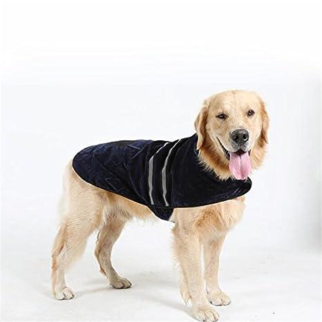 Kismaple Ropa para mascotas reflectante Chaqueta de cinturón Perro Invierno cálido Abrigo de llamamiento de ropa