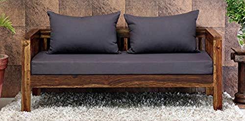Aasaliya Art Solid Sheesham Wood Natural Finish 2 Seater Sofa Set for Home