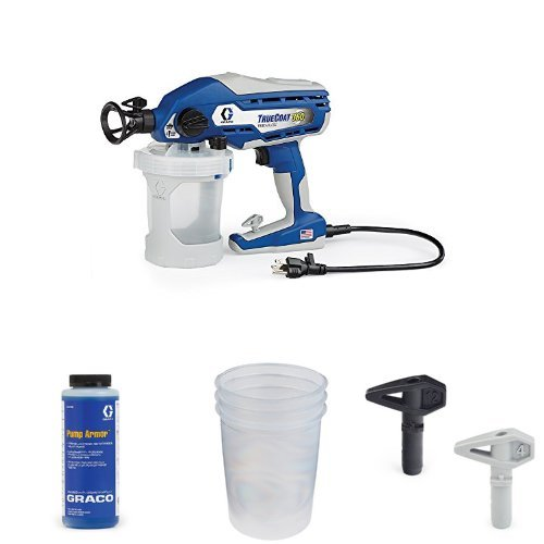 (Graco TrueCoat 360 Paint Sprayer Kit with Pump Armor, Paint Bags and Tips)