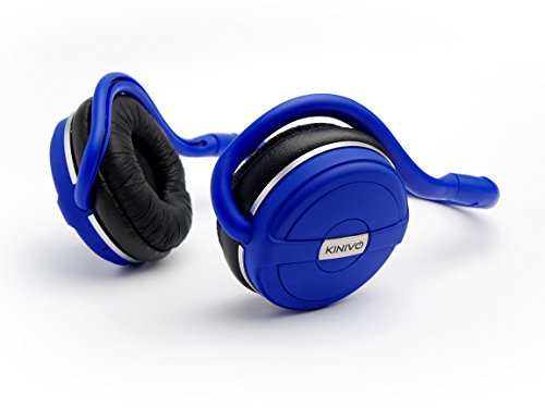 Kinivo BTH240- BLUE Bluetooth Stereo Headphone Supports Wireless Music Streaming and Hands-Free calling - Cool Blue