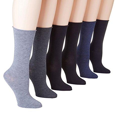 Ralph Lauren Roll-Top Trouser Socks 6-Pack, One Size, Grey - Us Lauren Ralph