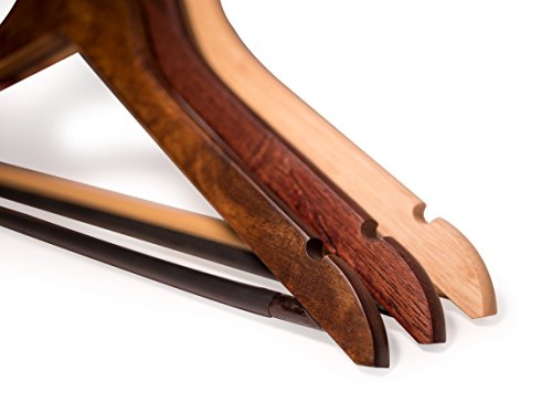 Topline Classic Wood Suit Hangers - 20 Pack (Natural Finish) by Topline (Image #5)