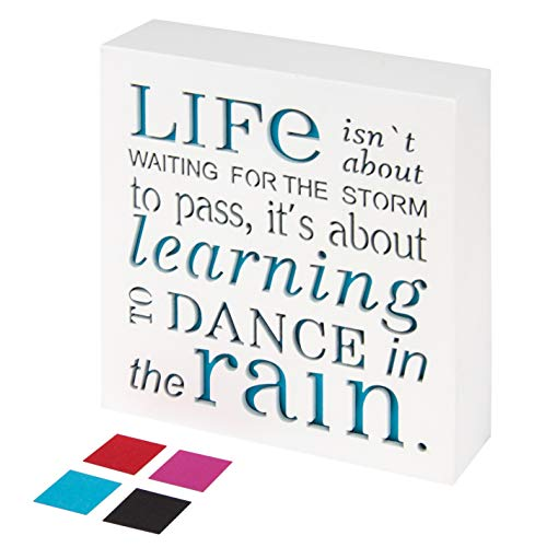 KAUZA Dance in The Rain - Home Decor Signs, Decorative Signs, Inspirational Plaques,Wooden Signs with Sayings Inspirational Gifts (Gift Sign Inspirational)