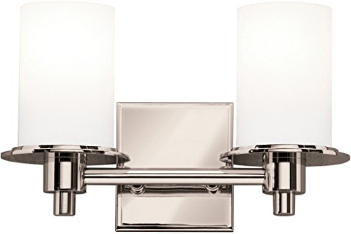Kichler 5437PN Cylinders Bath 2-Light, Polished Nickel