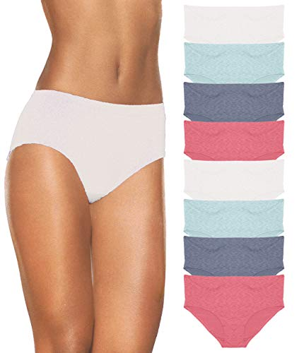 (Fruit of the Loom Women's Dream Flex Low-Rise Brief (8 Pack), Cherry Combo/L/7)