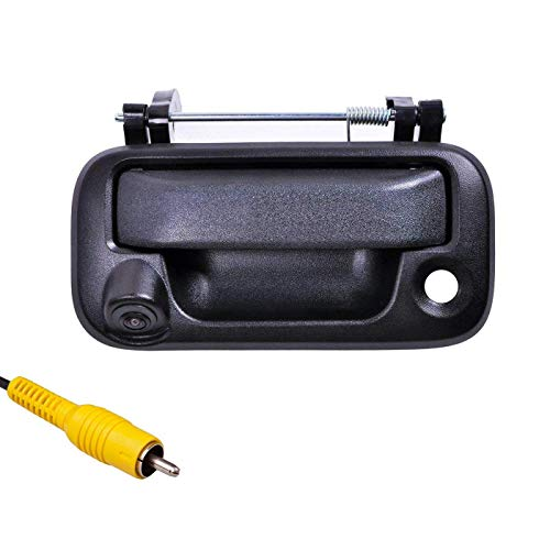 omotor Black Tailgate Backup Reverse Handle with Safety Parking Backup Camera for Ford F150 F250 F350 F450 F550 Pickup Truck Wide Angle Vision