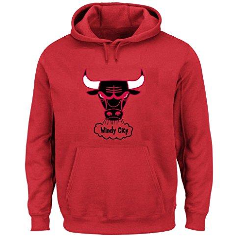 Chicago Bulls NBA Hardwood Classics Pullover Hoodie Fleece (XLarge)