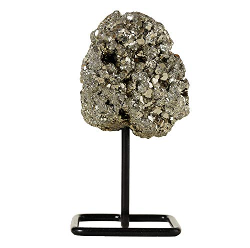Beverly Oaks Iron Pyrite Crystal Home Decor - Crystal Decor Healing Crystals on Metal Stand - Healing Stones for Wealth and Prosperity ()