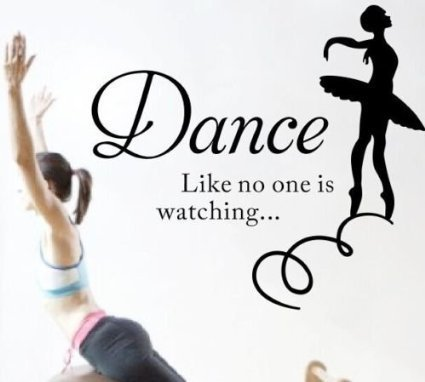Dance like no one is watching Inspirational Quote Lettering Wall Decals Removable Wall Decals Art Wall Decor by MengShang