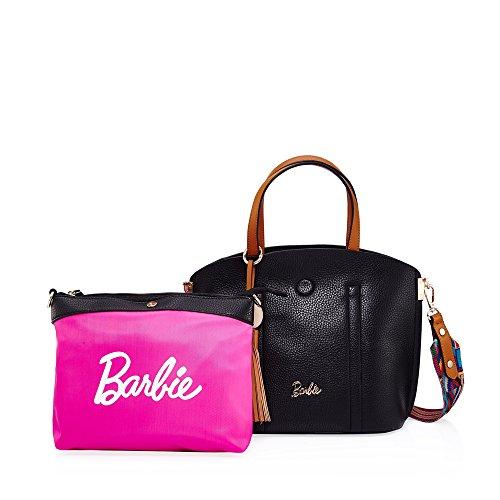 Barbie BBFB408 Serie de Trabajo Estilo de Gentilicio Pendiente de Borlas y Pelotita de Madera negro