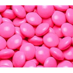 Dark Pink Milk Chocolate Gems (Lentils) 5LB Bag