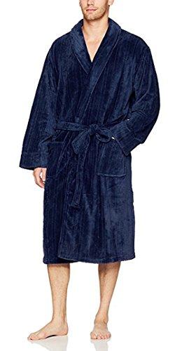 IZOD Men's Drop-Needle Comfort Soft Robe (Peacoat) ()