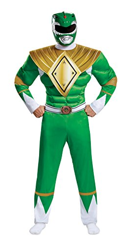 Disguise Men's Plus Size Green Ranger Classic Muscle Adult Costume, XXL (50-52) ()