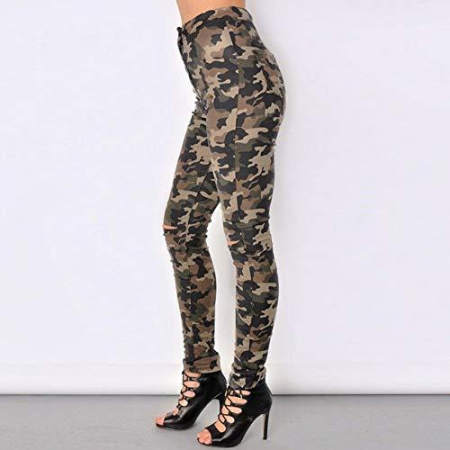 Skinny Femme Taille Femmes Nouveau Crayon Rlwfjxh Jeans Élastique Plus Déchiré Pantalon Mode Camouflage Haute Size 29 Militaire Pantalons nPOwk80X