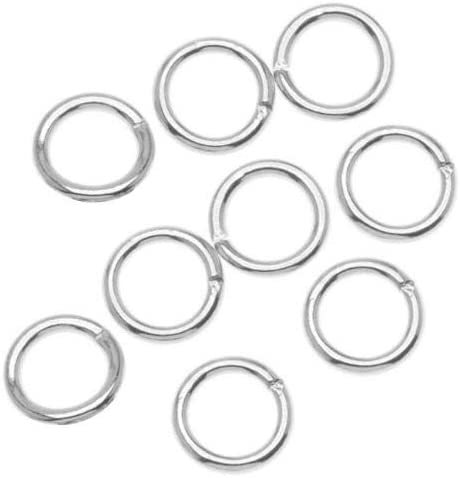 20 x 10mm OPEN JUMP RINGS SILVER PLATED STRONG 1mm Gauge