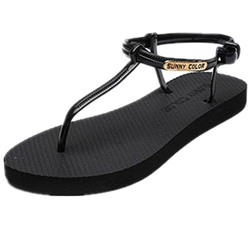 de las mujeres planas deportivo playa sandalia sandalias de los zapatos atléticos casuales , 10 , 36
