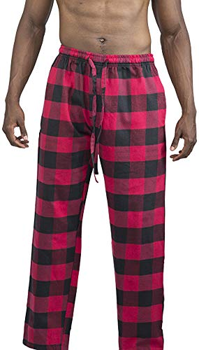 (NORTY - Mens Cotton Buffalo Plaid Flannel Sleep Pajama Pant, Red, Black 39975-Large)