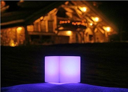 LOFTEK LED Light Cube : 4-inch RGB 16 Colors Kids Night Light with Remote Control, Home Decoration Cube Lamp, UL Listed Adapter, IP65 Protection Grade and Rechargeable Battery