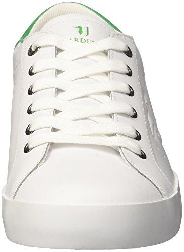Trussardi Jeans Basic, Sneaker a Collo Basso Uomo Multicolore (White/Green)
