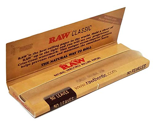 Bundle - 5 Items - RAW Classic 1 1/4 Rolling Papers, 79mm Roller, Pre-Rolled Tips with Leaf Lock Gear Mini Rolling Tray (Color Swirl) and Hippie Butler Kewl Tube by Leaf Lock Gear (Image #2)