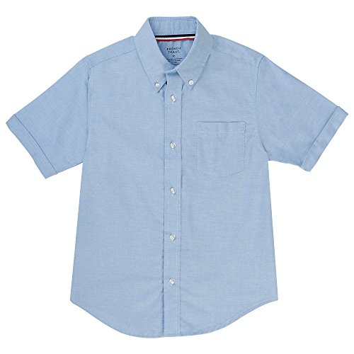 French Toast Boys' Toddler Short Sleeve Oxford Shirt, Light Blue, 4T by French Toast